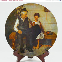 On Sale Vintage 1979, Norman Rockwell, Third Edition, Heritage Collection, The Lighthouse Keepers Daughter, By Knowles