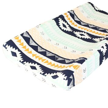 Tribal Aztec Arid Horizon Changing Pad Cover - Fits Standard Contoured Changing Pads