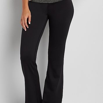 yoga pants with contrast waistband | maurices