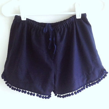 Organic Cotton Pom Pom Shorts