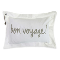 "The Vintage House by Park B. Smith ""Bon Voyage"" Oblong Throw Pillow"