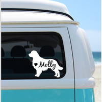 Golden Retriever Decal | Dog Decal |  Car Decal |  Laptop Decal | Golden Retriever | Window Decal | iPad Decal | Notebook Decal | Vinyl