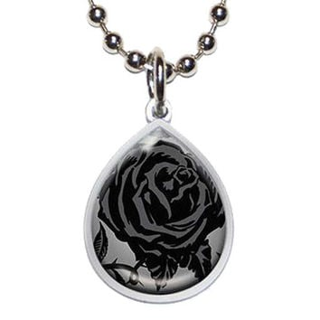 Gothic Beauty Tear Drop Necklace