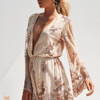 Angelic Sequin Playsuit (Nude/Rose Gold)