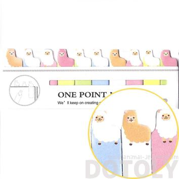 Tiny Alpaca Llama Shaped Animal Themed Sticky Post-it Memo Bookmark Tabs