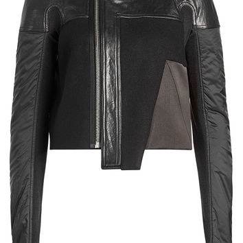 Wool Jacket with Leather - Rick Owens | WOMEN | KR STYLEBOP.COM