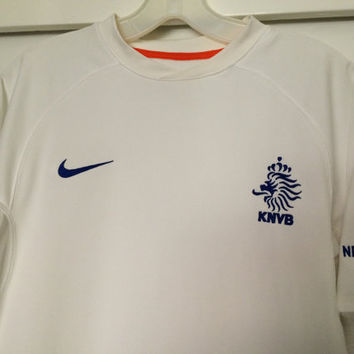 Sale!! Vintage Nike Holland Soccer Jersey KNVB Football Shirt Netherlands Futbol Size Medium Free US Shipping