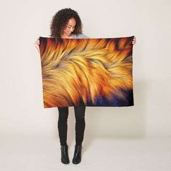 Cool Trendy Brown Horse fur texture design Fleece Blanket