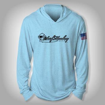 Surfmonkey Gear Performance Solar Hoodie Shirt - SM Logo