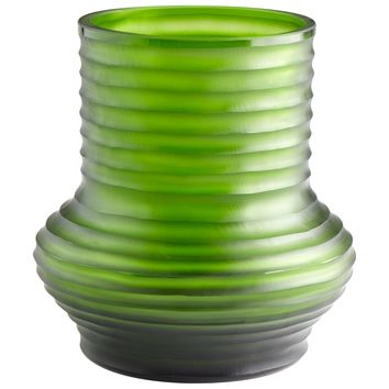 Large Leo Pistachio Green Art Glass Vase by Cyan Design