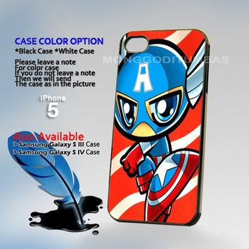Captain America kid, Photo Hard Plastic iPhone 5 Case Cover