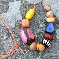 Lemon & Lolly Wooden Eco Necklace