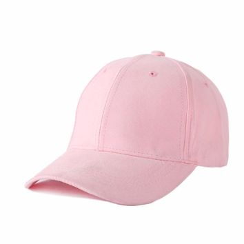Trendy Winter Jacket New Summer Solid Branded Baseball Caps Women Men Hats Snapback Suede Cap Sun Hats For Ladies Girls Pink Black Adjustable AT_92_12