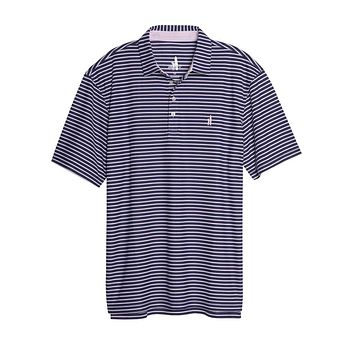 Linus Dual Striped Prep-Formance Pique Polo in Twilight by Johnnie-O
