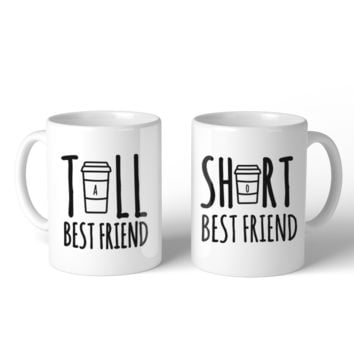 Tall And Short Best Friend BFF Mugs Christmas Birthday Gifts