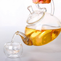 1PC 250ml,600ml,750ml,1200ml Heat Resistant With High Handle Flower Coffee Glass Tea Pot  Blooming Chinese Glass Teapots J1011