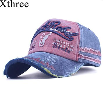Xthree Men's Baseball Cap Women Snapback  Hats For Men  Bone Casquette Hip hop Brand Casual Gorras Adjustable Cotton Hat Caps