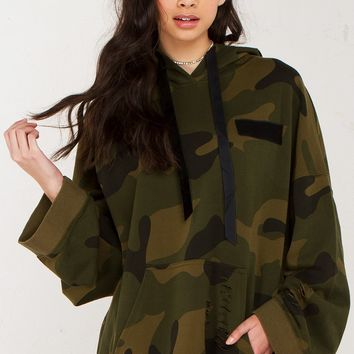 Long Sleeve Top in Camo