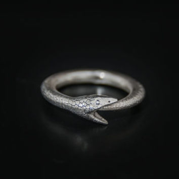 Ouroboros ring,snake ring,unique ring,Ouroboros Jewelry,serpent eating its own tail jewelry ,eternity ring,textured snake ring