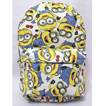 2016 Despicable Me Minion Cute Canvas Cartoon Adult Backpack School Bag Free Shipping