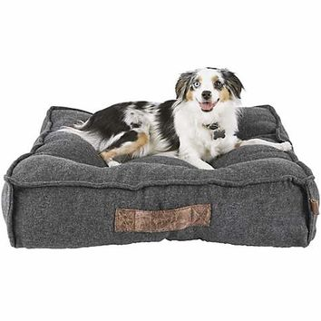 "Harmony Grey Lounger Memory Foam Dog Bed, 28"" L x 28"" W 