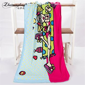 Zhuimenglong 70*140cm Hot Absorbent Microfiber Bath Beach Towel Quick Dry Washcloth Swimwear Shower Towels Gift EN303
