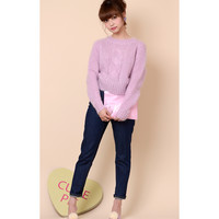 SUGAR KNIT cable sweater