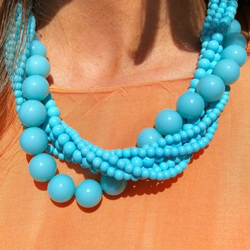 You'll Go Far Necklace: Turquoise
