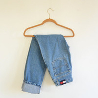 90's Tommy Hilfiger Jeans Women's size 3 light/medium wash Tommy Jeans Mid Rise