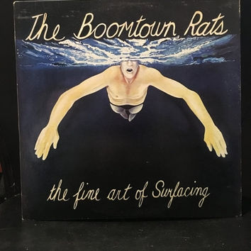 5 DAY SALE (Ends Soon) Vintage 1979 Boomtown Rats the Fine Art of Surfacing Vinyl Record Good Condition