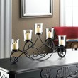Black Iron Waves Votive Candle Stand