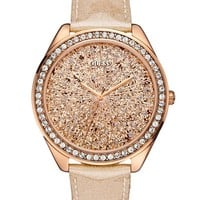 Rose Gold-Tone Extra Dazzling Sport Watch | GUESS.com