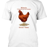 Funny Red Hen Fowl Language T-shirts