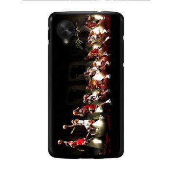 CREYUG7 Michael Jordan NBA Chicago Bulls Dunk Nexus 5 Case