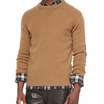 Men's Lux Cashmere-Wool Sweater, Brown - Vince - Brown
