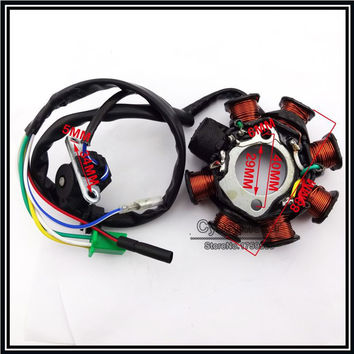 8 Coils Ignition Stator Magneto For GY6 125cc 150cc Engine Parts Chinese Moped Scooter ATV Quad Go Kart