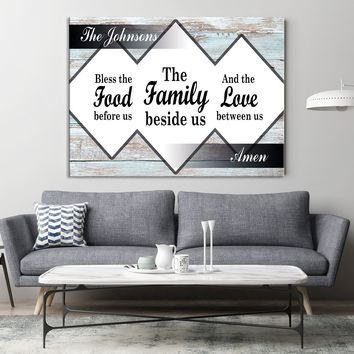 Personalized House Sign Custom House Sign Wall Art Family Name House Sign Wall Art Canvas