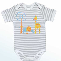 Baby Organic Cotton Onesuit - Jungle Animals Print
