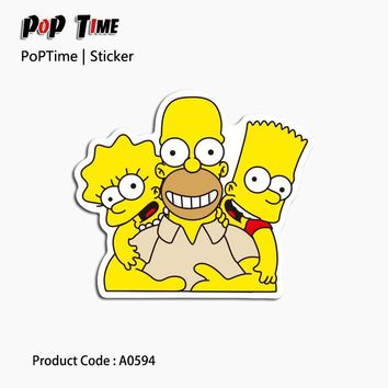 A0594 Funny Simpson play games Hot Fashion Mixed stickers for kids Home decor on laptop decal fridge skateboard cut doodle toy