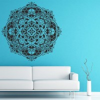 Mandala Wall Decal Vinyl Sticker Decals Lotus Flower Yoga Namaste Indian Ornament Moroccan Pattern Om Home Decor Bedroom Art Design Interior NS299