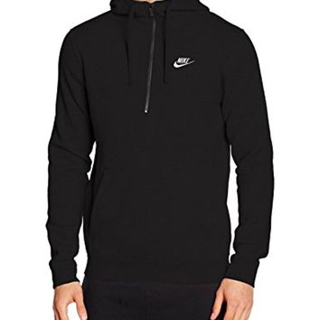 NIKE Mens Sportswear Half Zip Club Fleece Hooded Sweatshirt