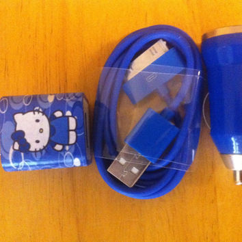 Hello kitty iphone charger set by GJGdesigns on Etsy