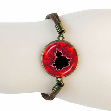 Mandelbrot Leather Bracelet