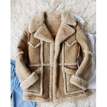 Vintage 70's Shearling Cozy Coat