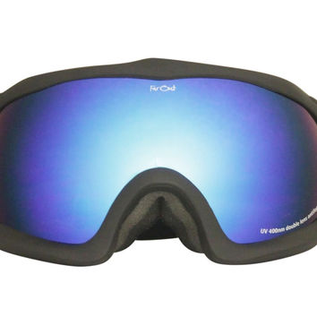 Black Warped Goggles Blue Lens