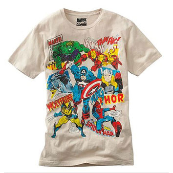 Marvel Team Ups Vintage Attack Mens T-Shirt