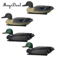 MagiDeal 4 Pcs Fishing Hunting Male Decoy Plastic Duck Decoy Drake w/ Floating Keel