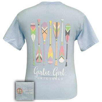 Girlie Girl Originals Preppy Oars Canoe River Comfort Colors T-Shirt