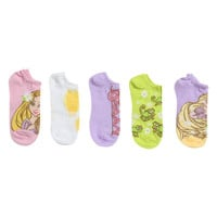 Disney Tangled No-Show Socks 5 Pack