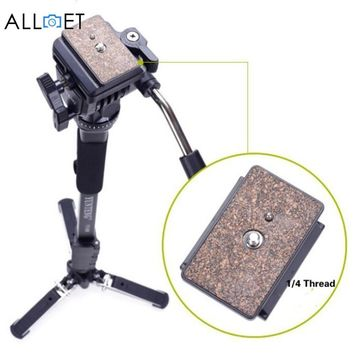 Professional 288 Monopod & Fluid Pan Head Ball & DV Unipod Mobile Phone Clip Holder for Canon Nikon DSLR Camera Monopods